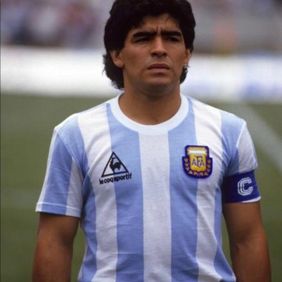 3b1dc5e9c3 Le Coq Sportif Shirts | Maradona Argentina 1986 World Cup Jersey ...